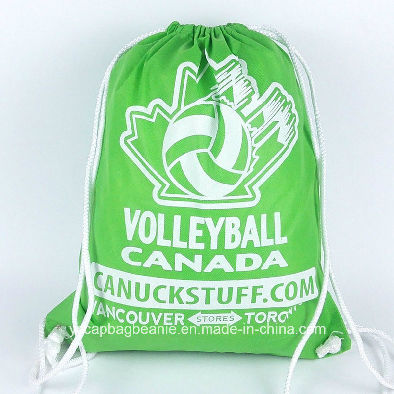 Promotional Cheap Sports Non Woven Drawstring Bag