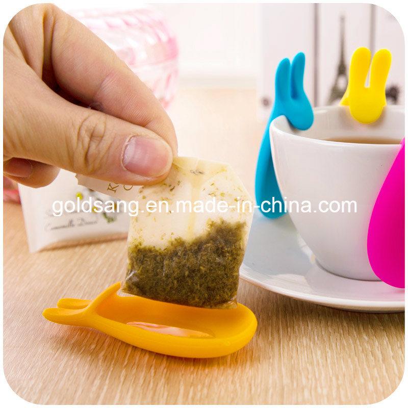 Cute Rabbit Hang Tea Bags Silicone Tea Bag Mat