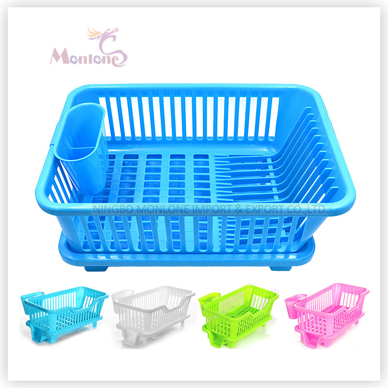 Plastic Kitchen Storage Drying Rack, Dish Drainer