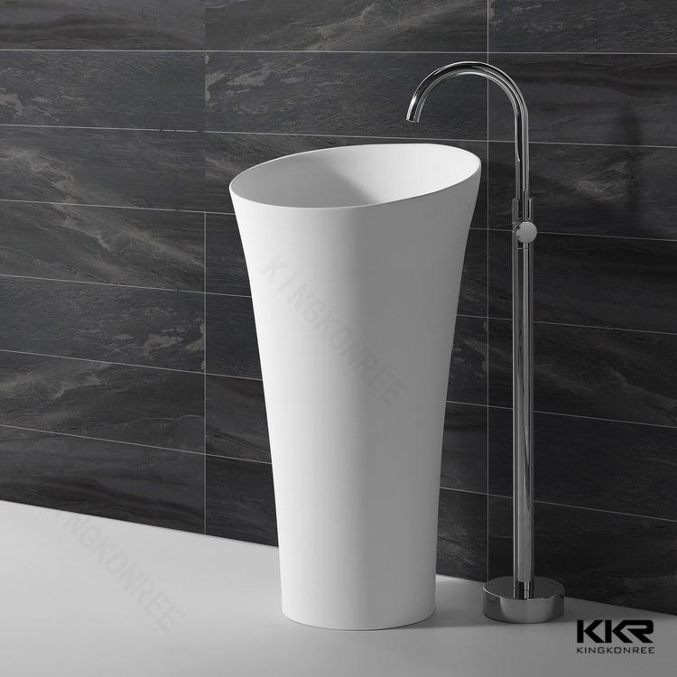 Kingkonree Solid Surface Freestanding Basin Sink (KKR-1588)