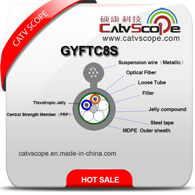 China Supplier Structure Cabling Optical Fiber Gyftc8s Figure-8 Stranded Loose Tube Cable with Steel Tape