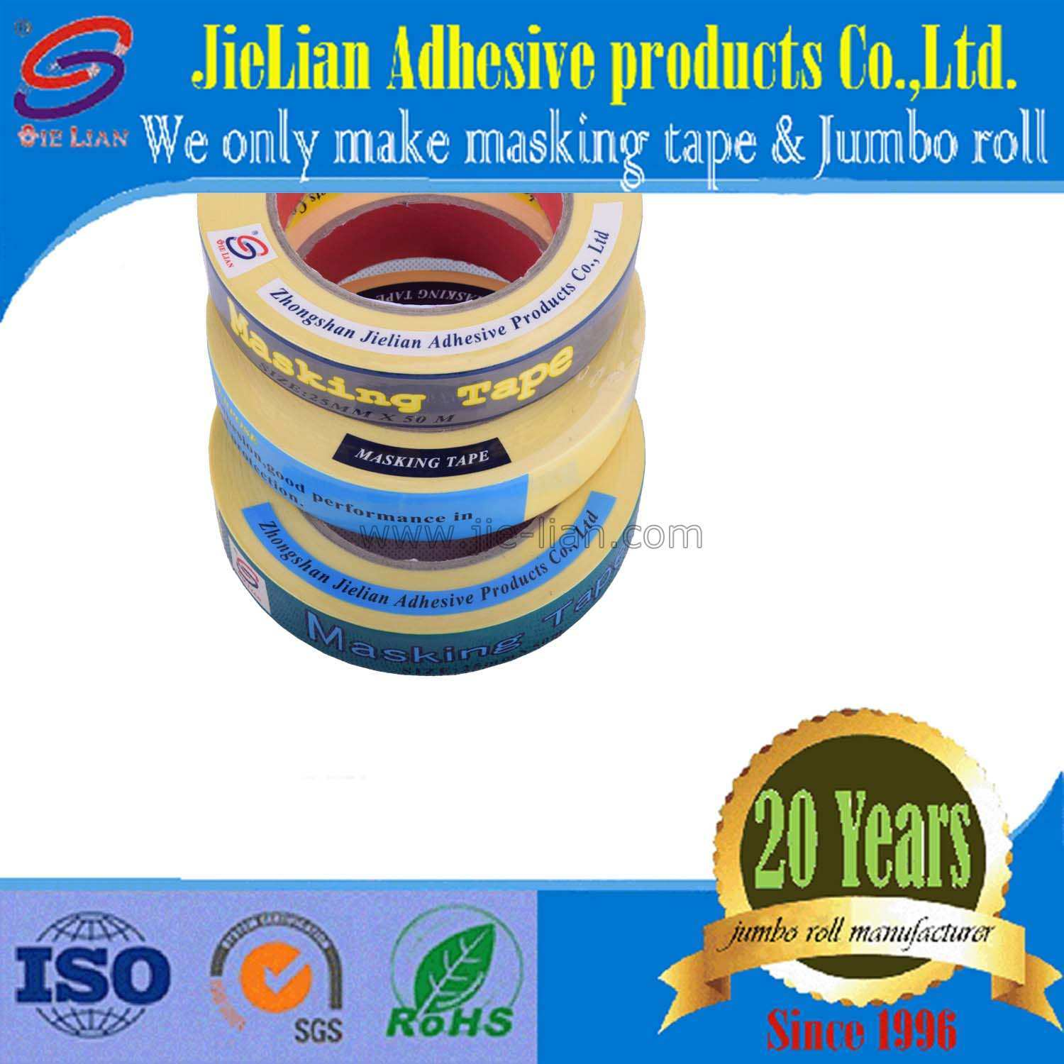 High Quality Automotive Painting Masking Tape Free Sample Mt722