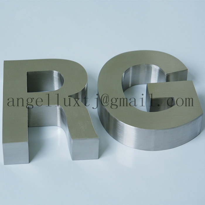 316 Marine Grade Polished or Brushed Stainless Steel Letters for Sea City