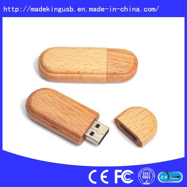 Hotsales Wooden USB Flash Drive (USB 2.0)