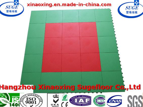 China Handball Courts Use Interlocking Sports Flooring