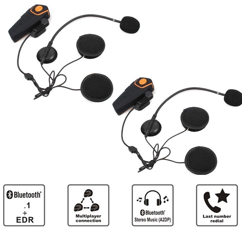 Waterproof Bluetooth 3.0+EDR Waterproof 1000m Handfree Wireless Helmet Headset Bt809 Motorcycle Helmet Bluetooth Headset Intercom with FM