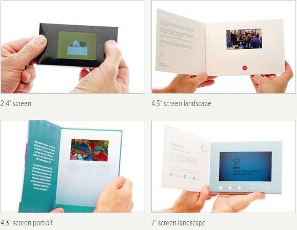 Factory Custom Video Player Download Video LCD Business Card Video Brochure for Advertising