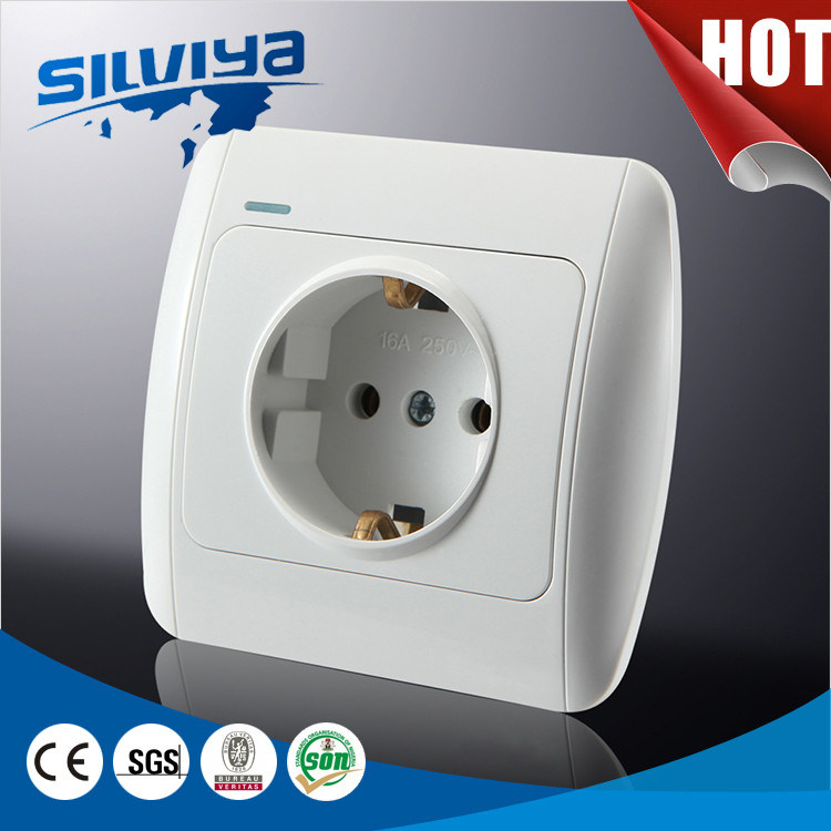 Schuko Wall Switch with Grounding