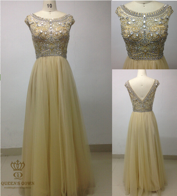 Mother of Bridal Dress with Heavy Beaded Bodice Dress