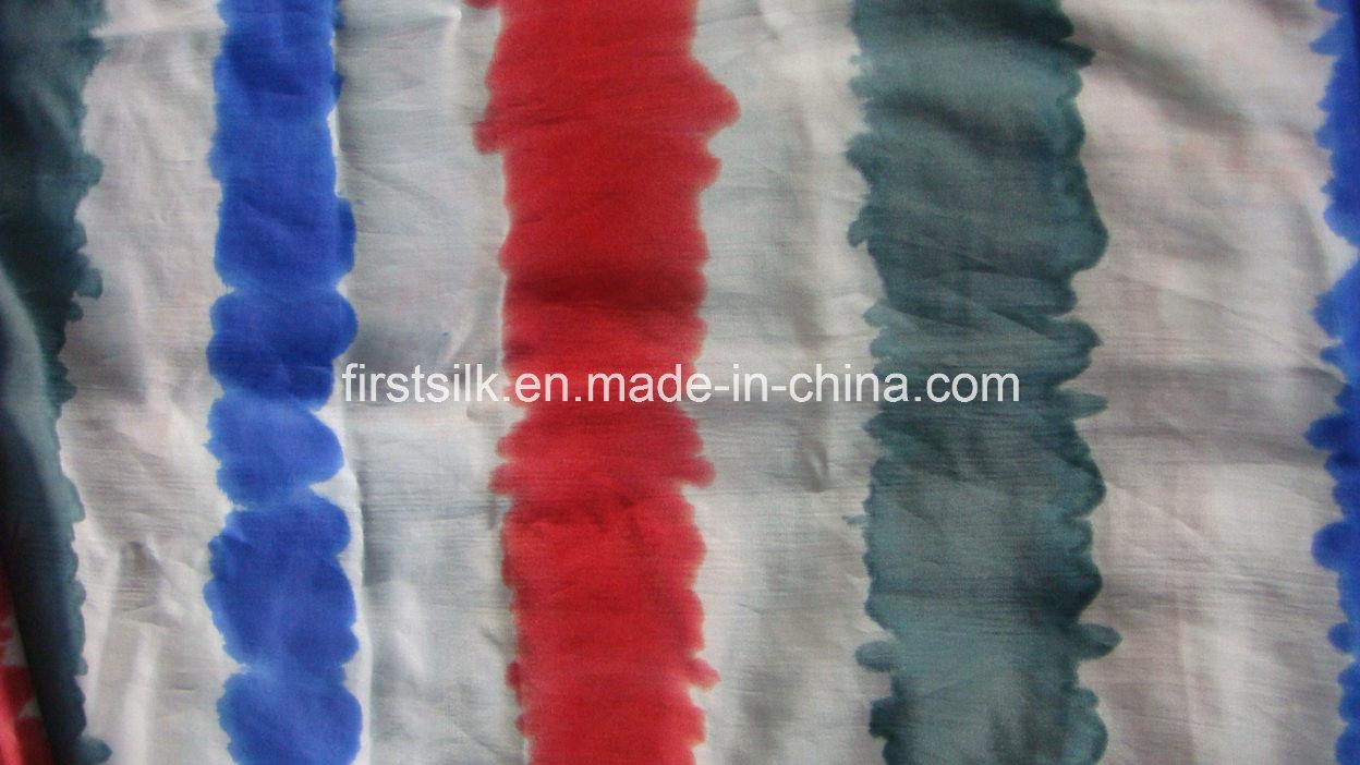 35%Silk 65%Cotton Woven Fabric Tie Dye Design