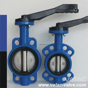 Lever Operated Cast Iron Wafer Type Marine Butterfly Valve