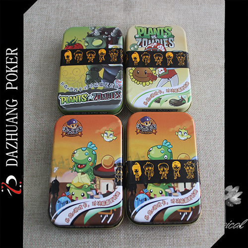Plant Vs Zombies Playing Game Card in Tin Box