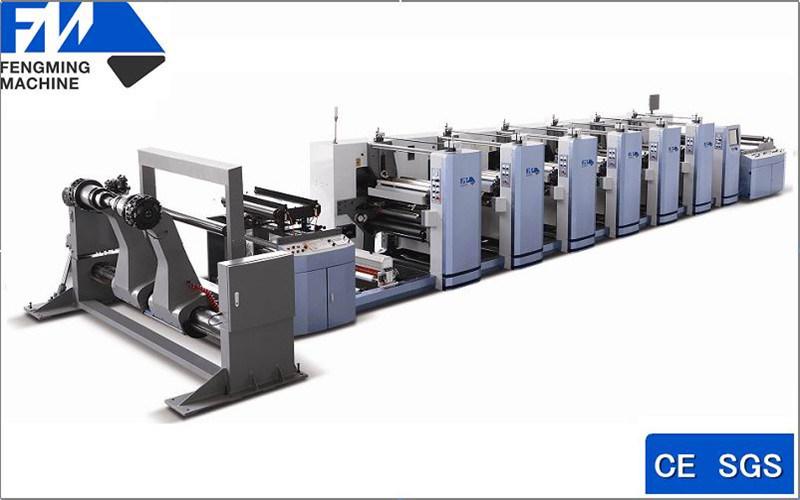 Six Colors High Speed Flexo Printing Machine