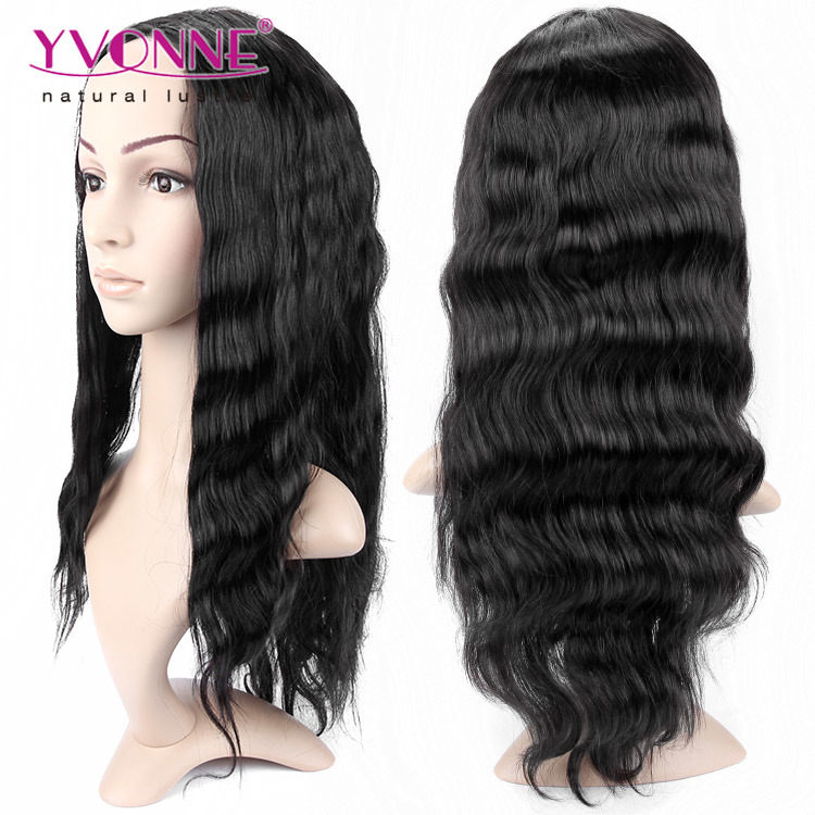 Natural Color Brazilian Body Wave Lace Front Wig