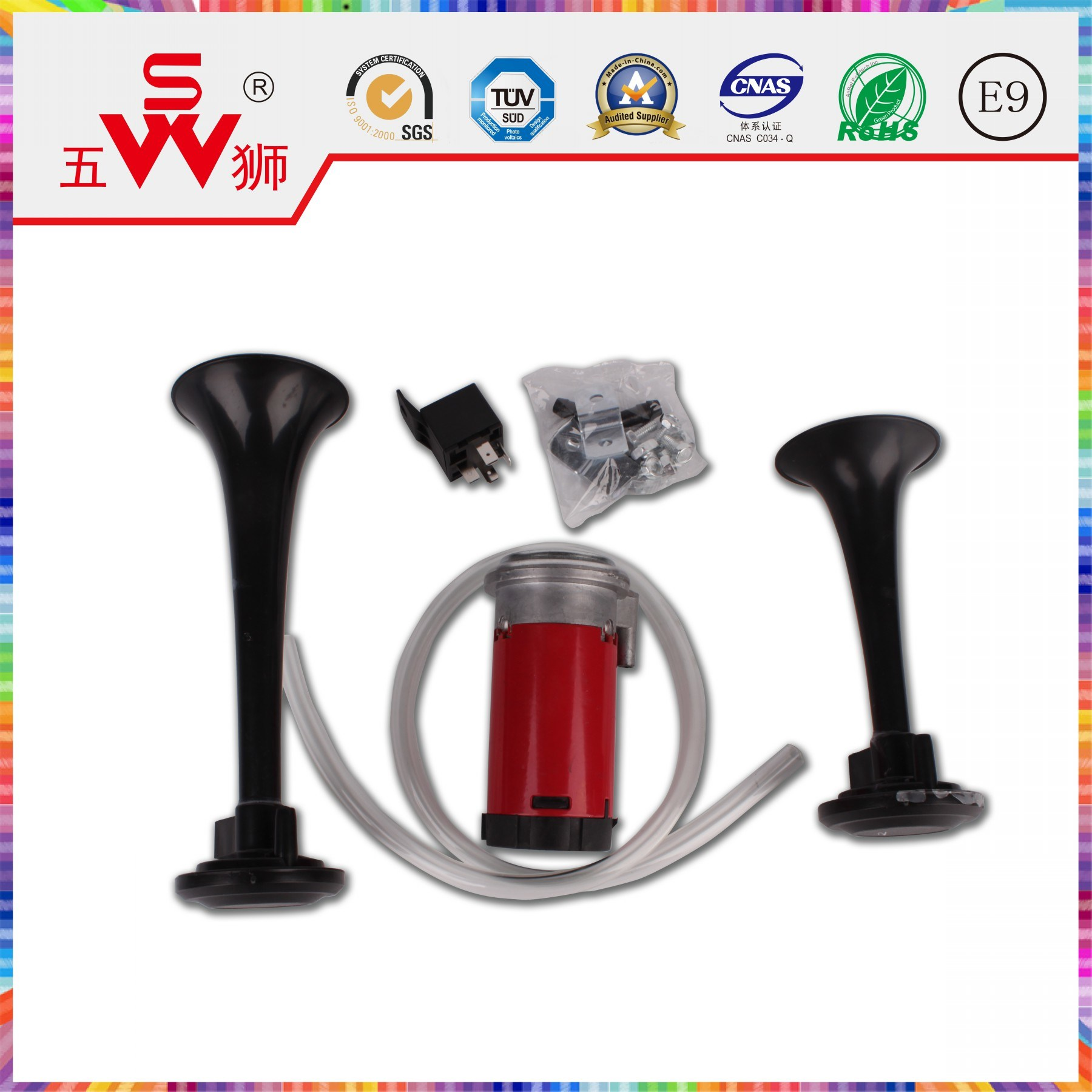 OEM ISO Auto Electric Horns for Electric Car Accessories