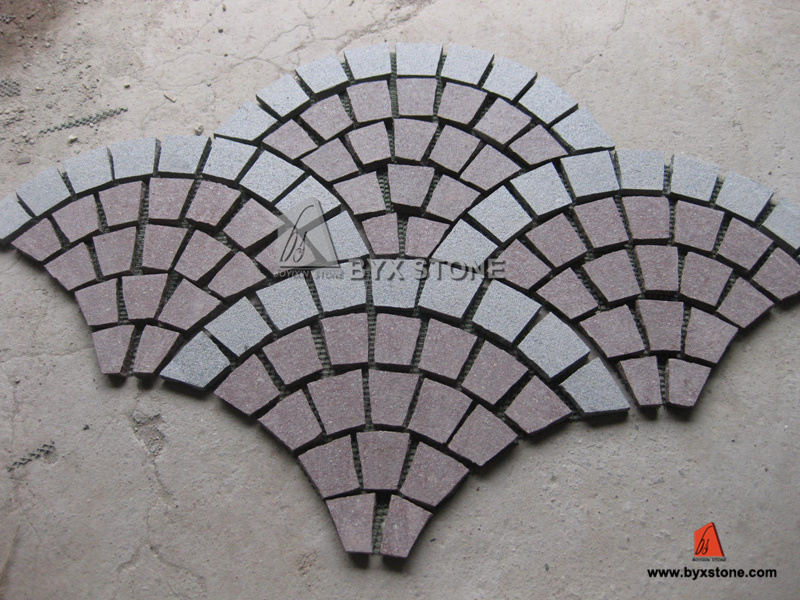 Natural Granite Garden Cobblestone / Paving Stone for Outdoor Garden