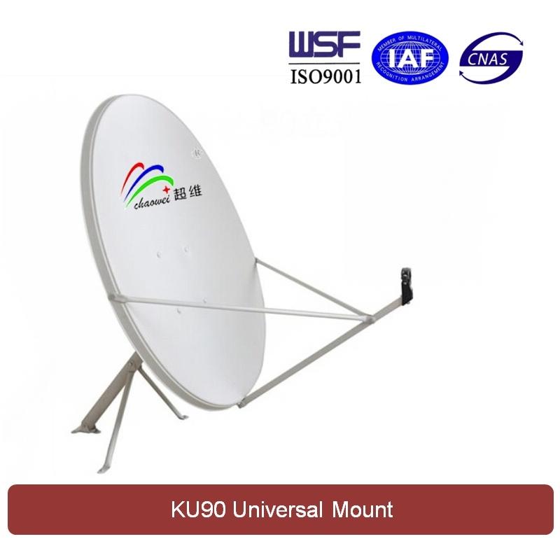 Ku 90cm Satellite Dish Antenna (Universal Mount)
