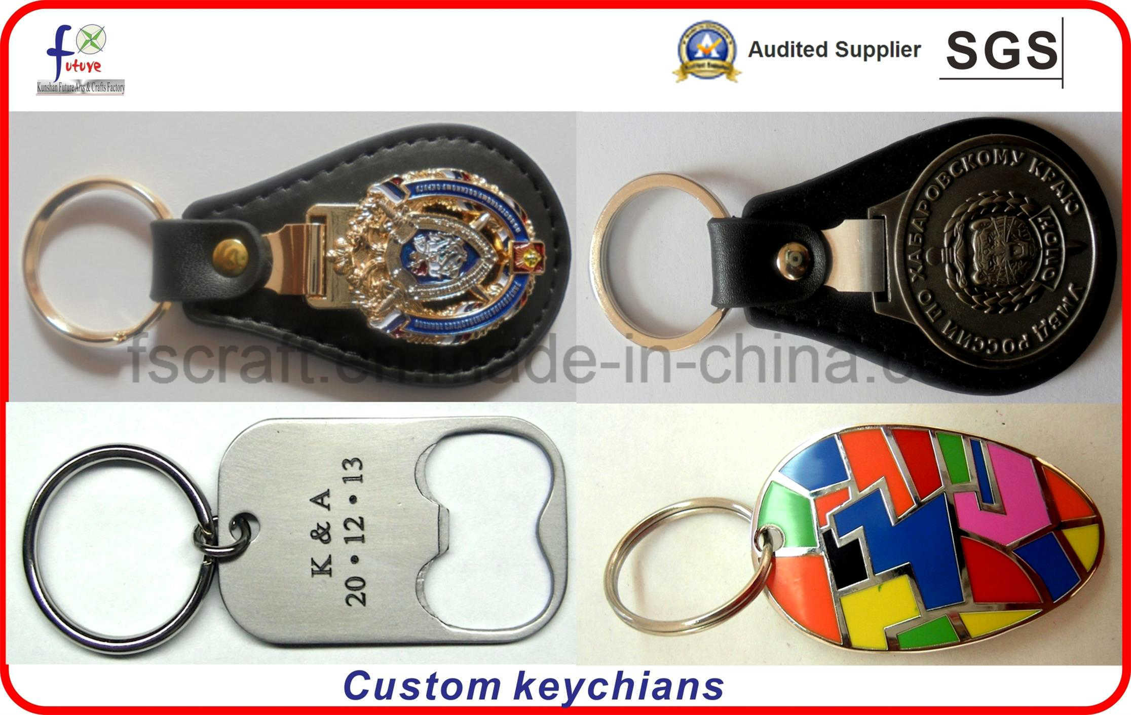 Custom Souvenir Metal Keychains Keyrings