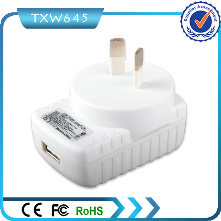 Rcm Approved 5V 2A USB Au Wall Charger