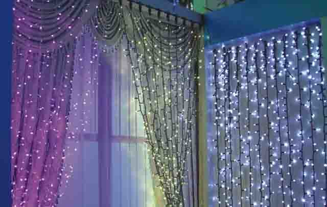 China LED Curtain Lights Copper Wire String CE LED Christmas Light ...