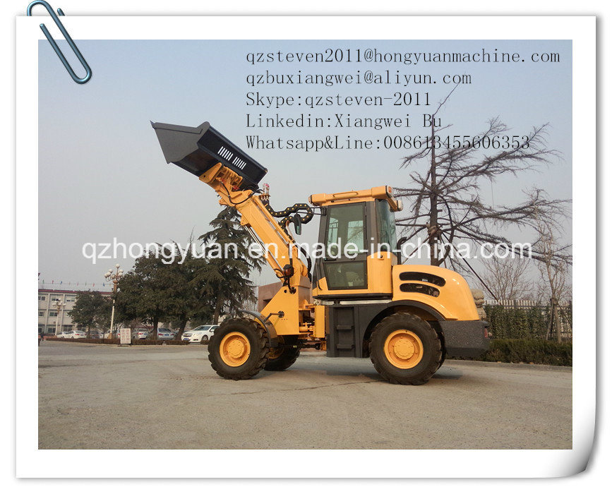 Rated Loading Weight 1.5ton Telescopic Wheel Loader Zl15 with CE