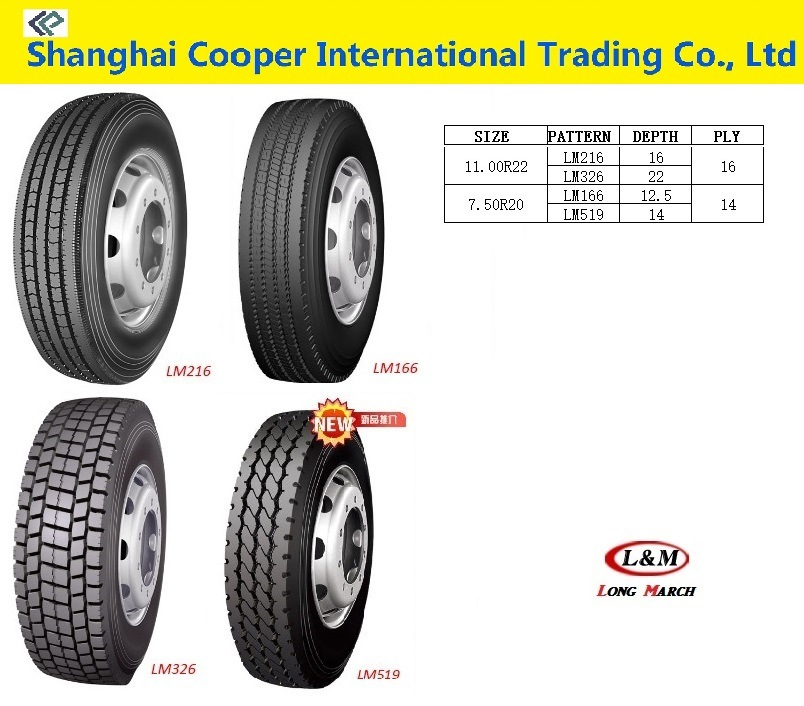 China Truck Tyre with Superb Maneuverability for All Kinds of