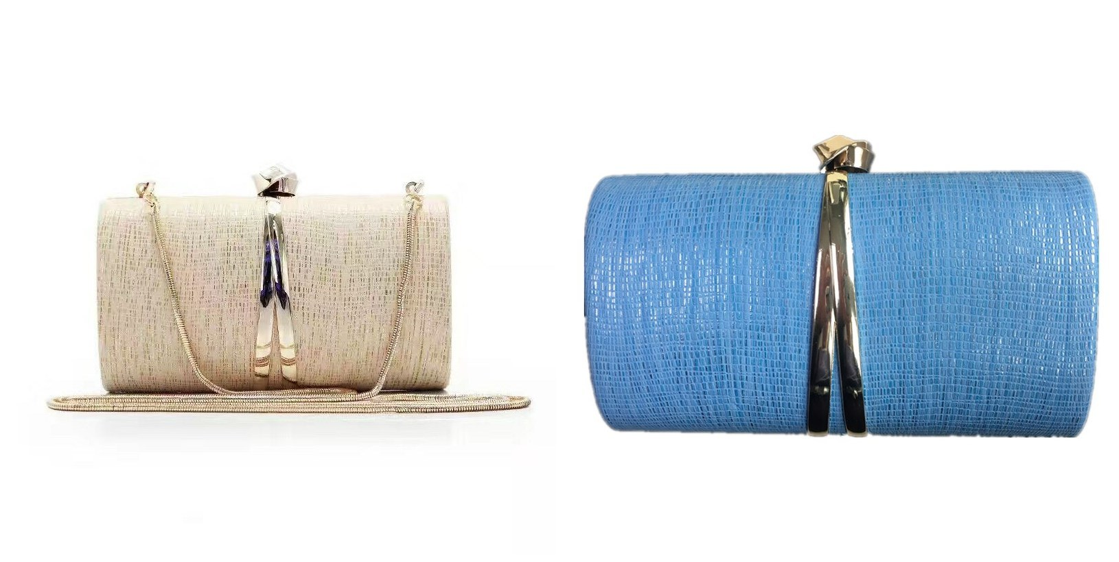 Hard Case High-Grade Metal PU clutch Women Eveningbag