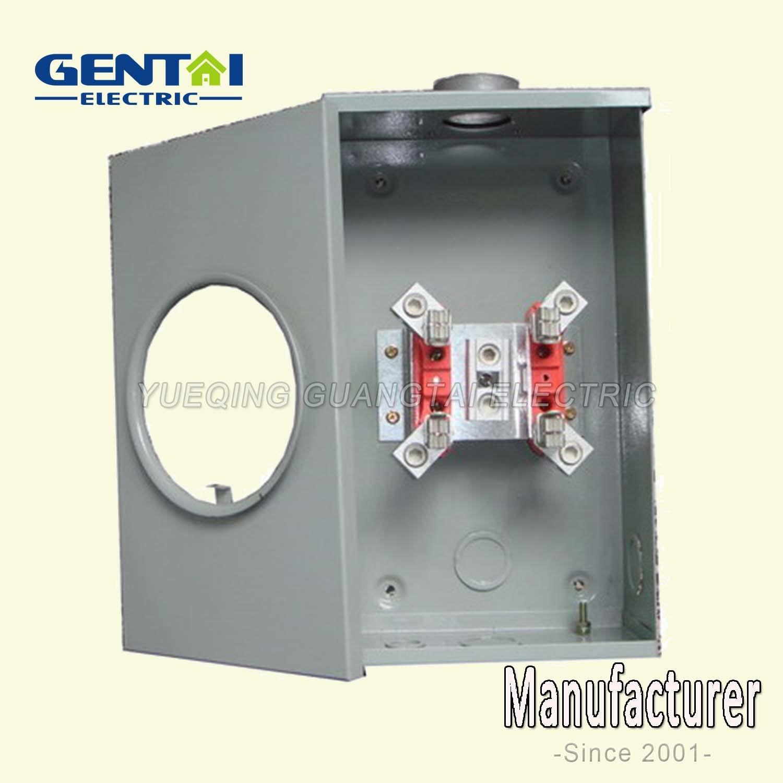 4 Jaw Ringless Type Gtfp 200A Rectangular Meter Socket
