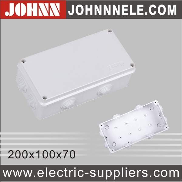 Waterproof Electrical Junction Box Plastic Case with CE