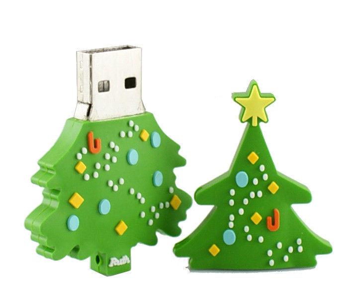 china customized pvc christmas tree usb flash drive photos - Usb Christmas Tree