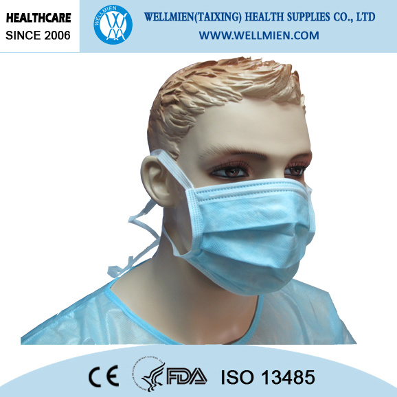 Medical Consumable Non Woven 3 Ply Surgical Disposable Face Mask