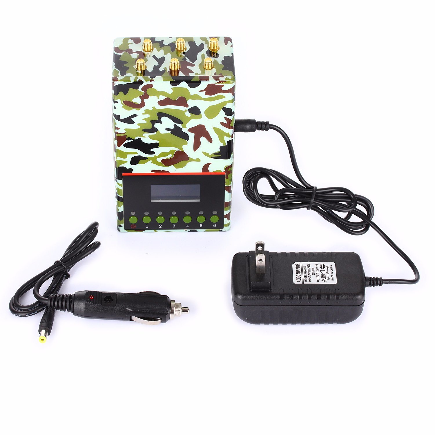 Portable Jammer LCD Display Block Cell Phone Signal 2g/3G/4G