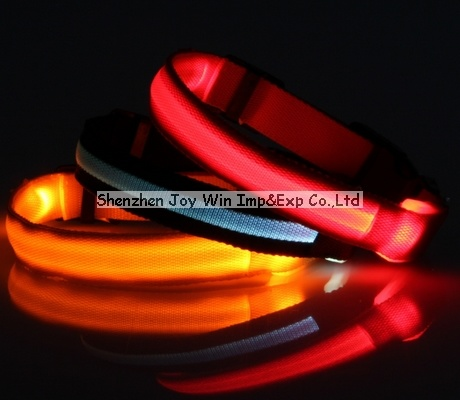 Promotional LED LED Pet Collar, 2.0cm Transparent Dog Collar