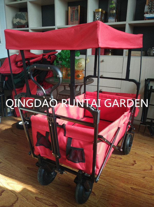 Foldable Garden Cart with Canopy (Tc4208)