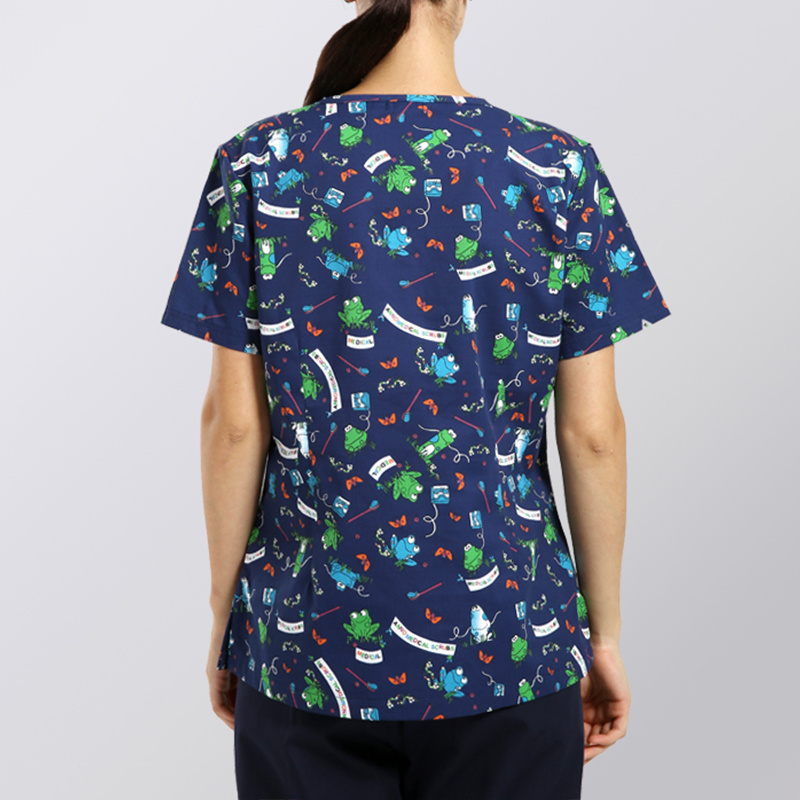 Latest Design Scrub Sets Printed Scrub Nurse Uniform
