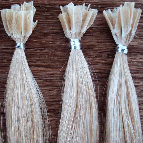 European Remy Hair Hot Fusion Keratin Pre-Bonded U Tip Nail Hair