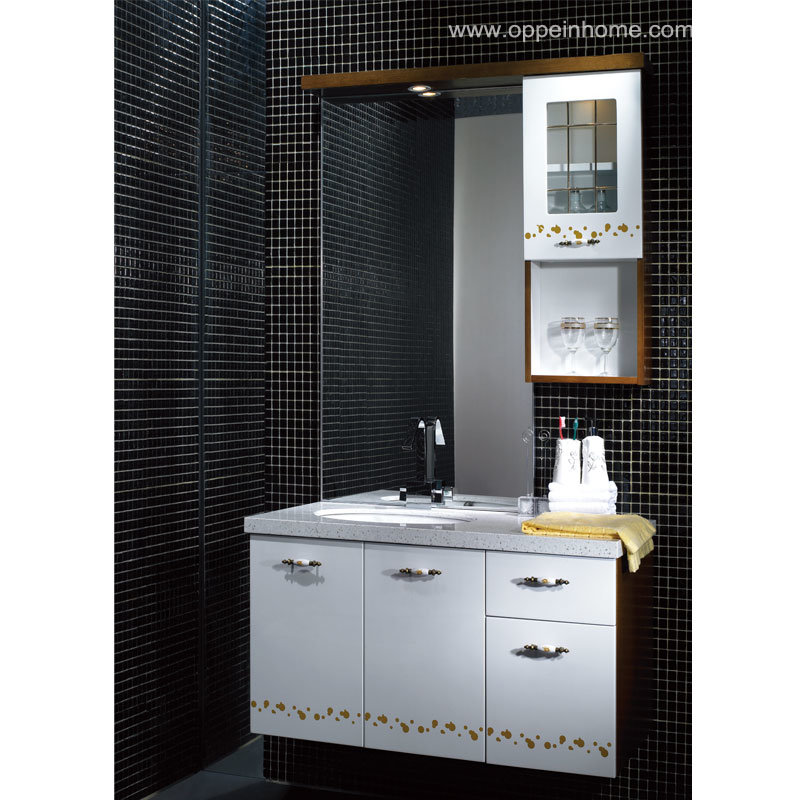 china white wall mounted bathroom cabinet lacquer bathroom cabinet