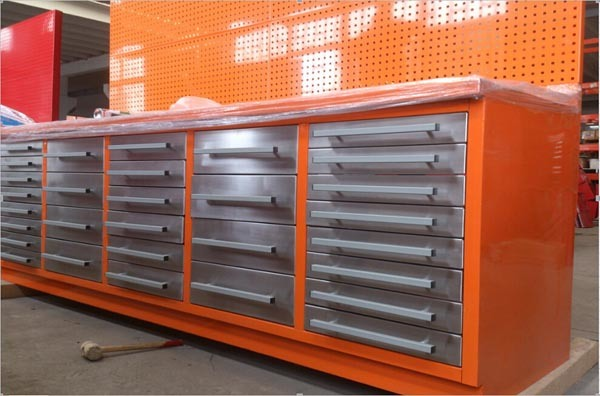 Powder Coated Metal Workbench with Peg Board