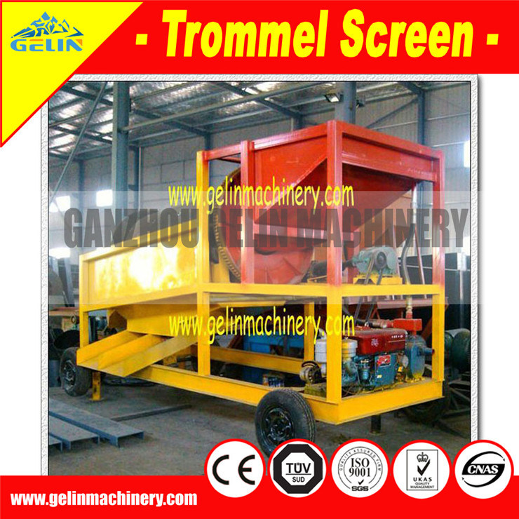Big Trommel Screen, Large Capacity/Small Gold Trommel