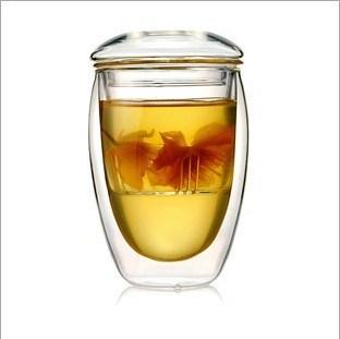 350ml (12oz) Double Wall Glass Tea Cup