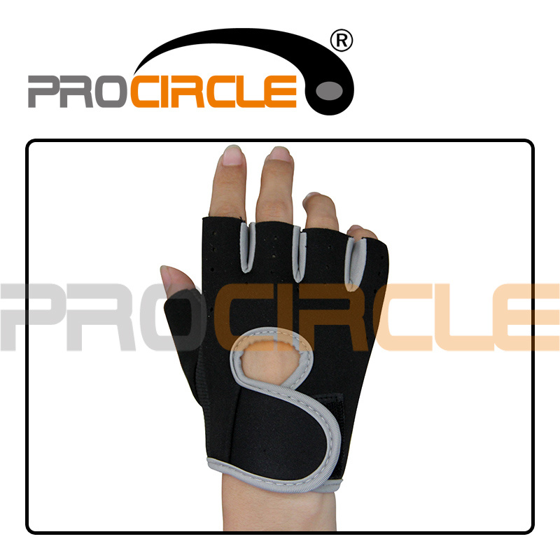 Weightlifting Exercise Half Finger Fitness Gloves (PC-CG1013)