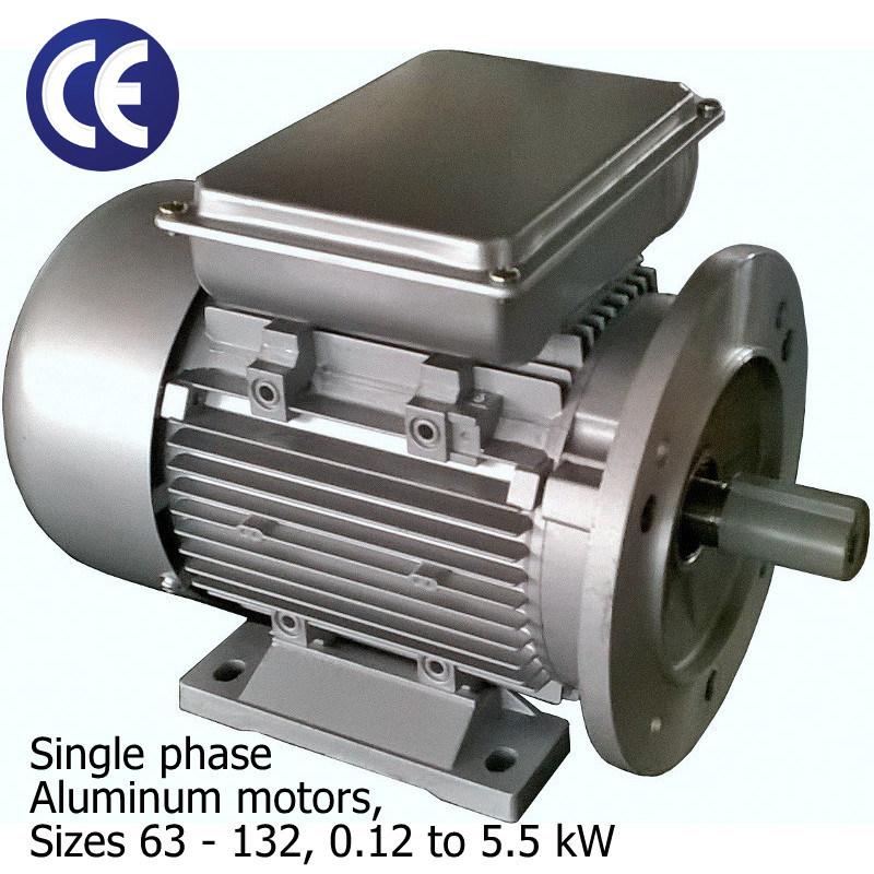 Single Phase Aluminum Motors (Sizes 63 - 132, 0.12 to 5.5kW)