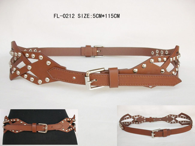 Ladies Fashion Belt with Stud Fl-0212
