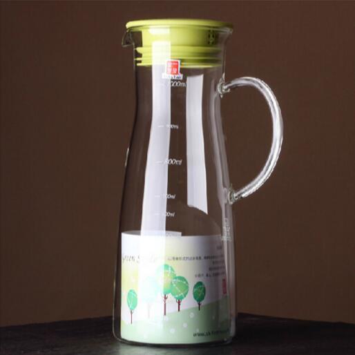 1000ml High Borosilicate Cold Drink Glass Kettle Glass Juice Jug Glass Pitcher