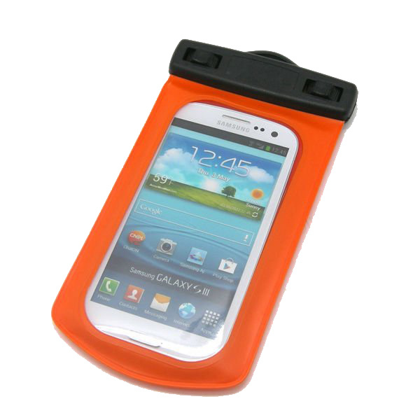 100% Sealed Floatable Mobile Phone PVC Waterproof Dry Case (YKY7202)