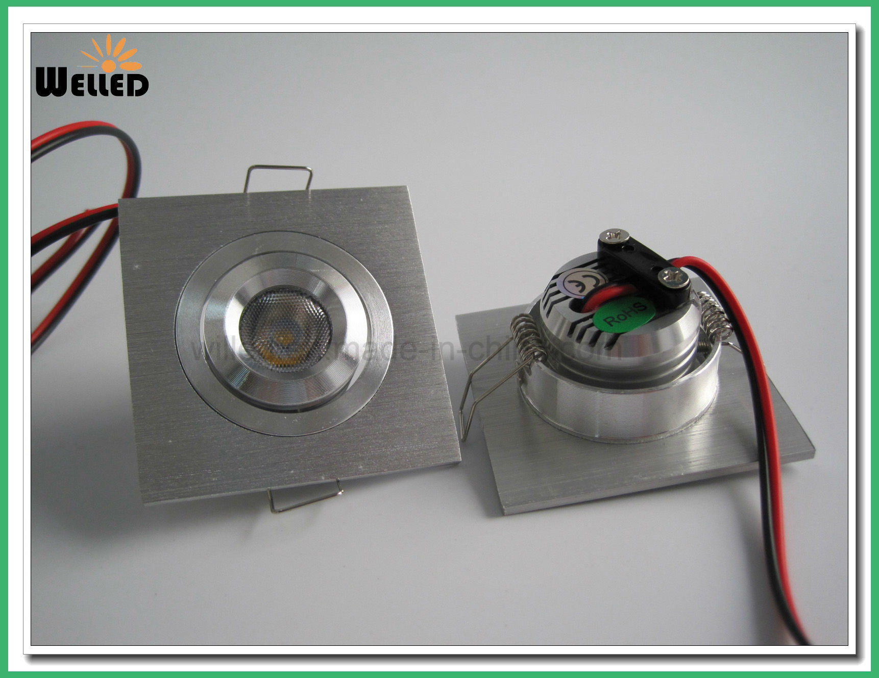 Square Adjustable LED Mini Downlight 3W for Cabinet Lighting