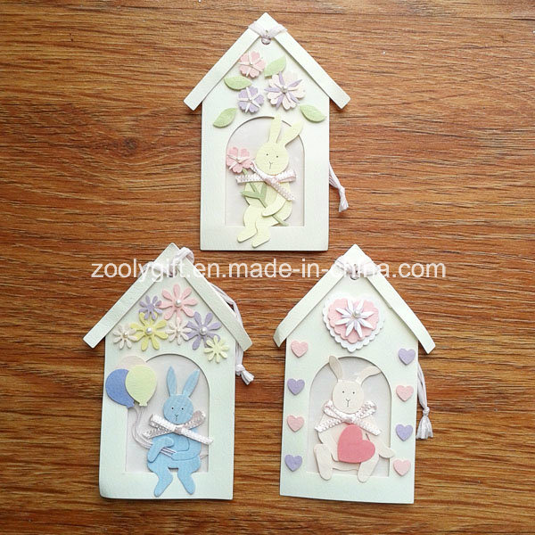 Personalized Paper Decorative Tag / Handmade Animal House Shape DIY Craft