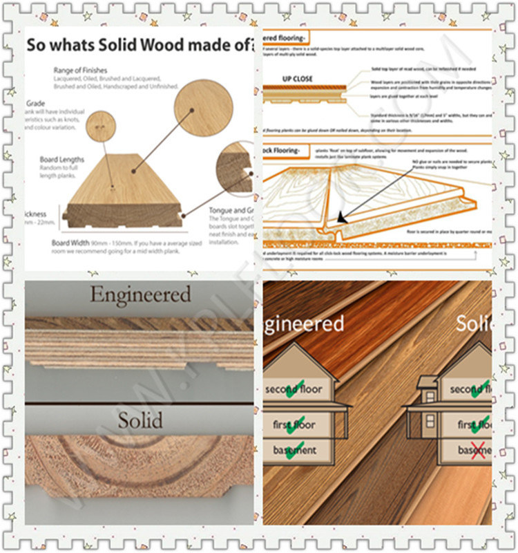 Oak Wide Plank Wood Flooring Chemical Treatment Engineered Flooring