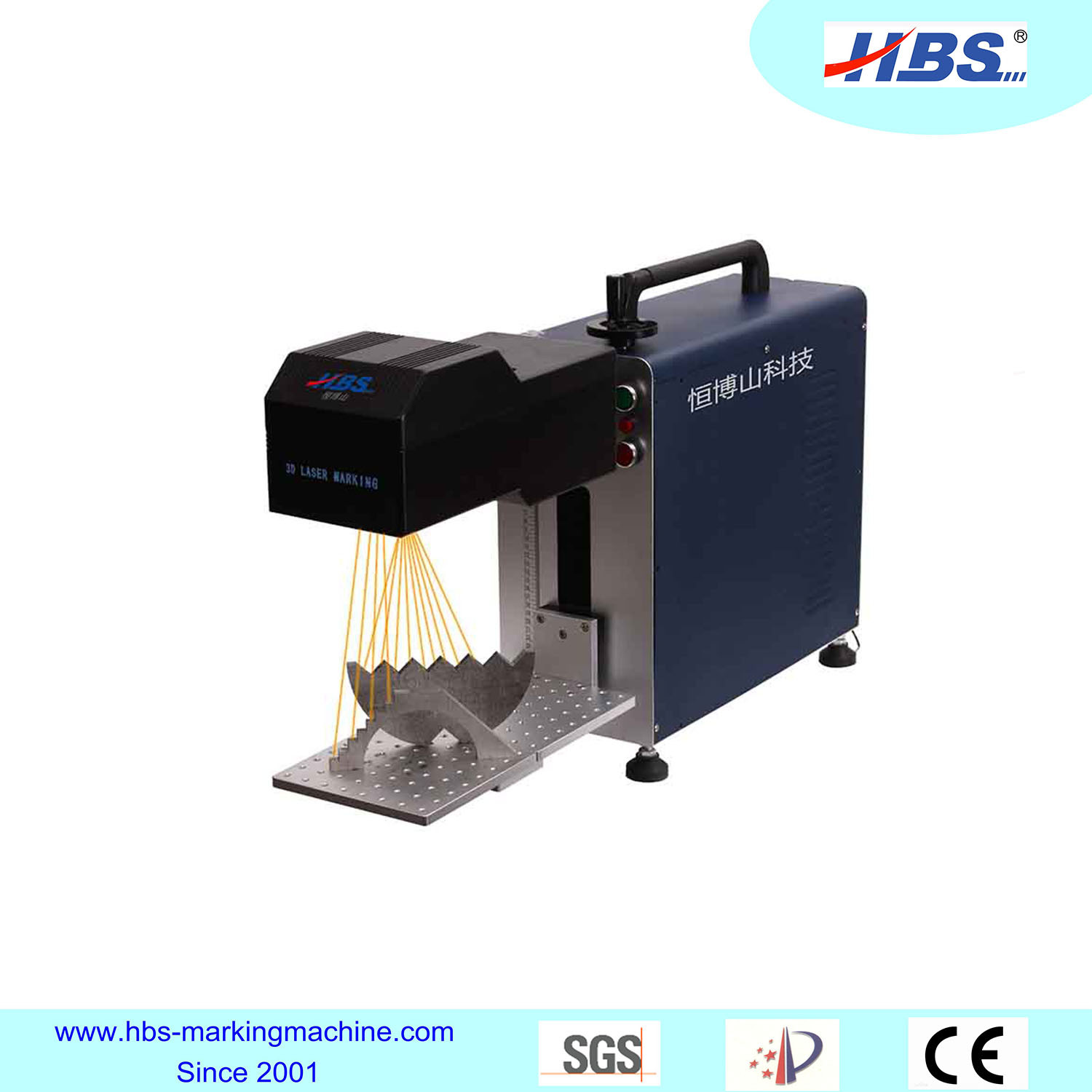 New Generation Big Marking Area 3D Fiber Laser Marking Machine
