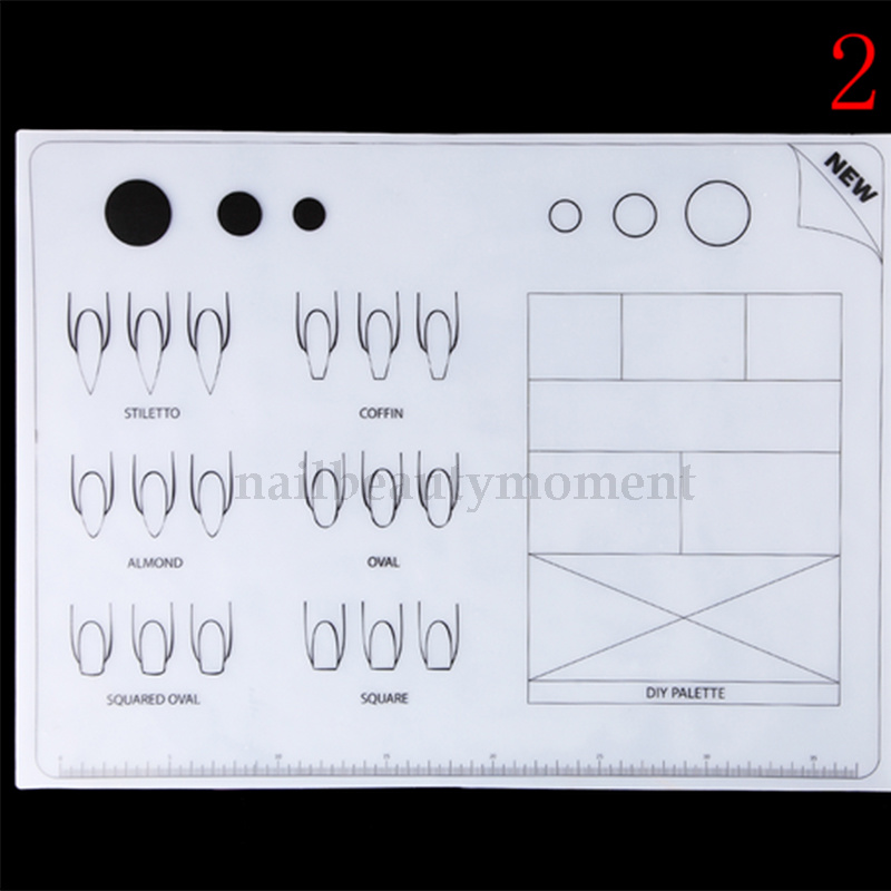 Silicone Nail Art Practice Table Mat Stamping Manicure Tool (M32)